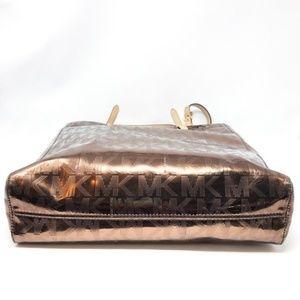 Michael Kors Bags - Michael Kors Jet Set Mirrored Gold Large Tote